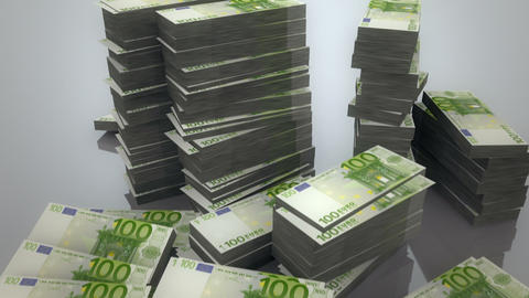 Pile Of Euros stock footage