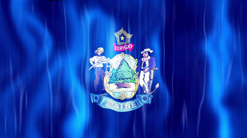 Maine State Flag Animation Animation