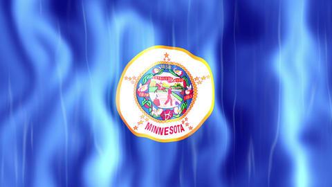 Minnesota State Flag Animation Animation