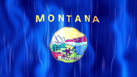 Montana State Flag Animation Animation