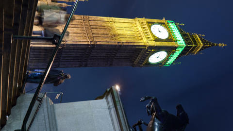 Vertical time-lapse of Big Ben in London Footage