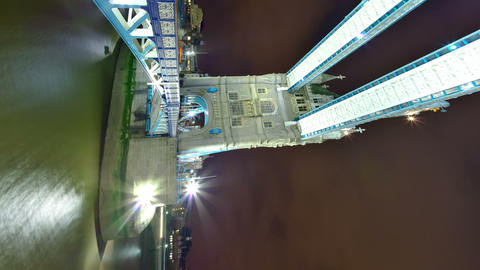 Vertical time-lapse of the Tower Bridge in London Footage