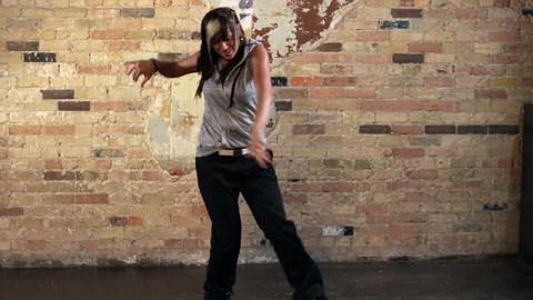 Young woman dancing hip hop Footage