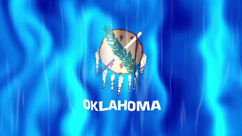 Oklahoma State Flag Animation Animation