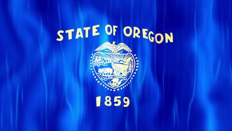 Oregon State Flag Animation Animation