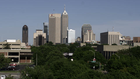 Indianapolis, Indiana skyline Footage