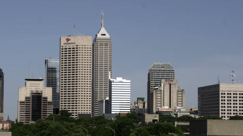 Panorama of an Indianapolis, Indiana cityscape Footage