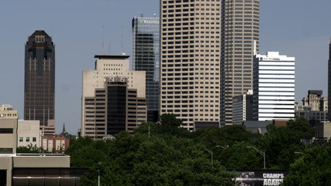 Skyscrapers in Indianapolis, Indiana Footage