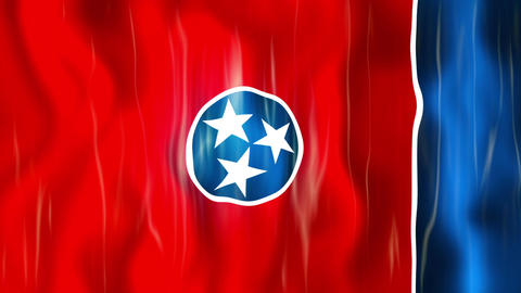 Tennessee State Flag Animation Animation