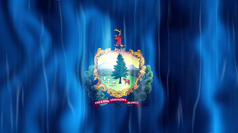 Vermont State Flag Animation Animation