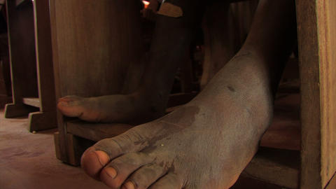 African boy's feet Footage