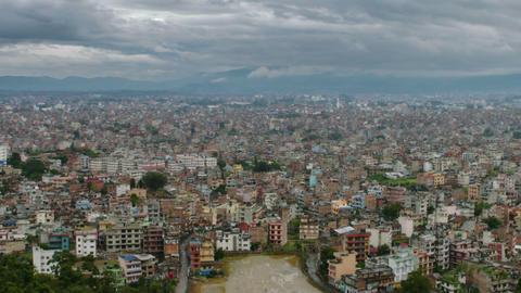 Time-lapse of the Kathmandu, Nepal cityscape. Cropped Footage