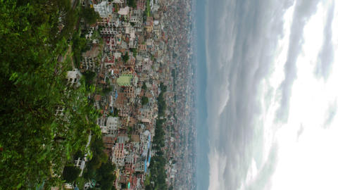 Vertical shot of Time-lapse of the Kathmandu, Nepal cityscape Footage