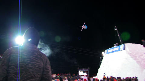Ski competition with a crowd Footage