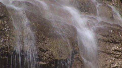 Fresh Falling River Water Rocks Nature stock footage