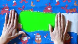 Gift paper green screen 2 GIF