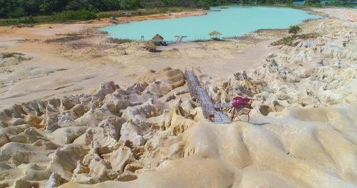 The unusual terrain of the island of Bintan Footage