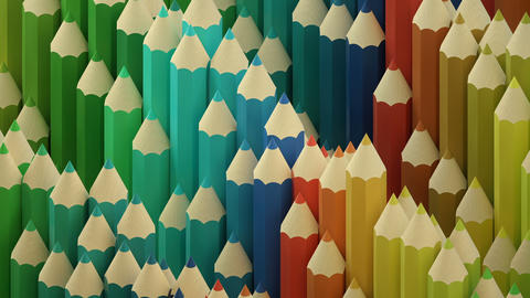 Colorful wooden pencils wave background Videos animados