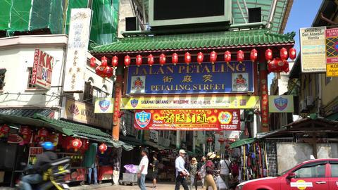 Petaling street market in Kuala lumpur Footage