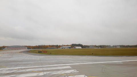 Foggy airport time lapse take off Live Action