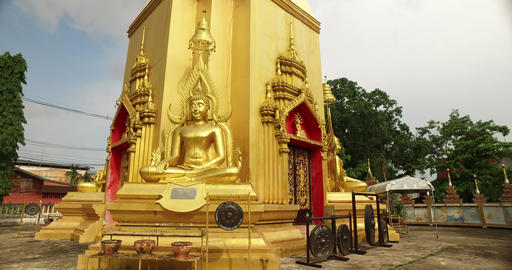 Golden Buddha Statue in Thailand 4K Footage