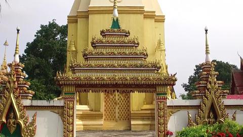 Chedi Stupa Buddhist Temple Live Action