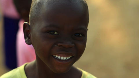 Kenyan boy staring at the camera Footage