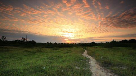 Sunrise near a village in Kenya Footage