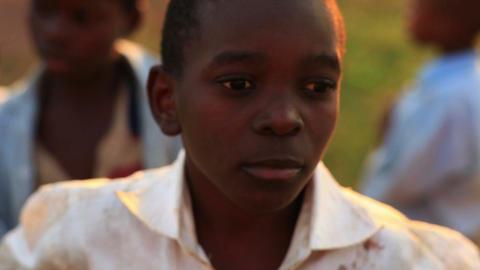 Boys looking at the camera in Kenya Footage