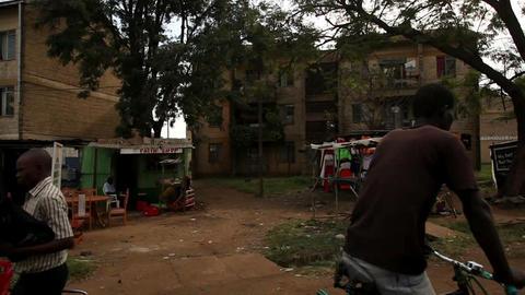 Shot driving through a residential area in Kenya. Shot in Kenya, Africa Footage