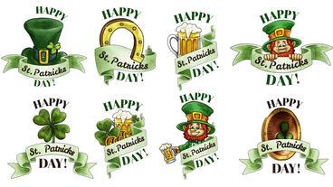 St. Patricks Badges Plantilla de After Effects