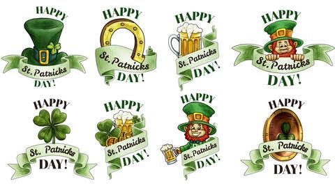 St. Patricks Badges After Effectsテンプレート