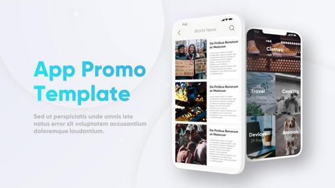 Multiscreen UI Phone App Promo Premiere Proテンプレート