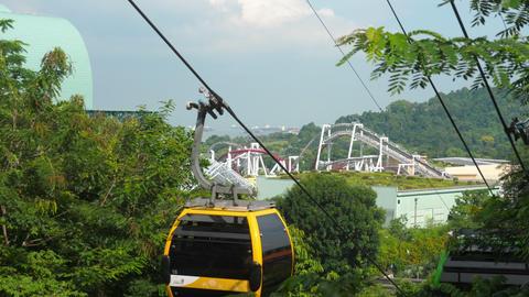 Singapore Sentosa Island Aerial View Footage