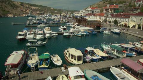 Boats and boats at berths Footage