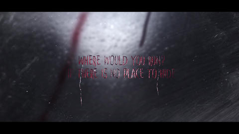 DARK RAINY NIGHT horror intro After Effects Template