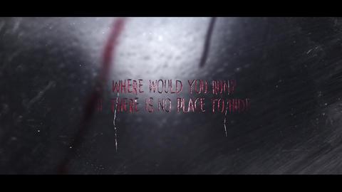 DARK RAINY NIGHT horror intro After Effectsテンプレート