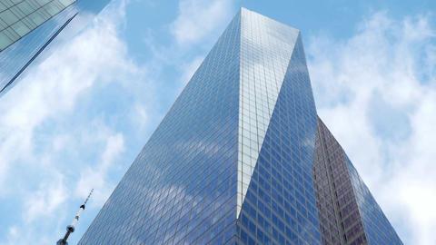 Bank of America skyscraper in Manhattan Live Action