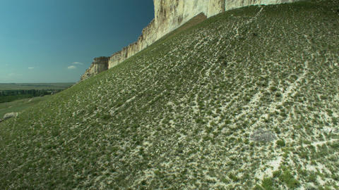 White sheer natural rock Footage