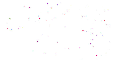 Confetti on White, Confetti on Black, alpha matte. Loop Animation