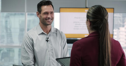 1 Journalist In Corporate Interview Footage