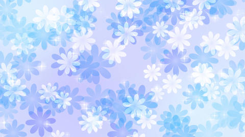 Flower-pastel-lateral-direction-blue Animation