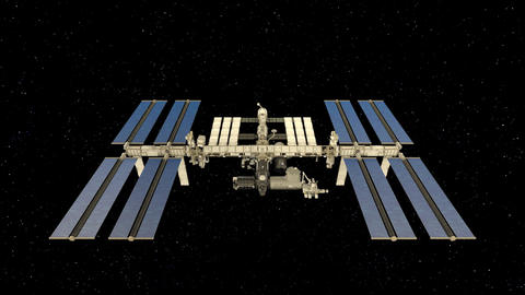 Space station Animation