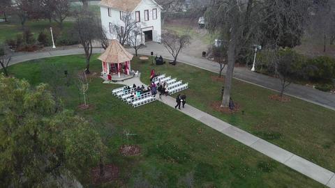 Aerial. Traditional Hindu wedding ceremony Footage
