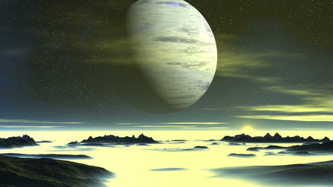 Blue Giant over Alien Planet GIF