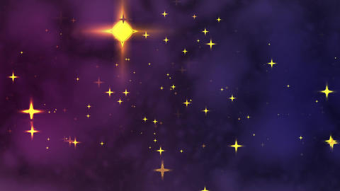 Glowing Star - Video Background CG動画素材