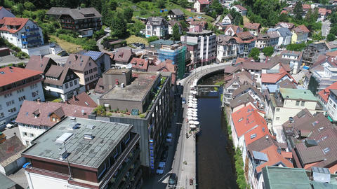 Bad Wildbad from above on sunny day Stock Video Footage