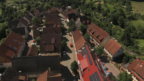 Street in Dornstetten from above Footage