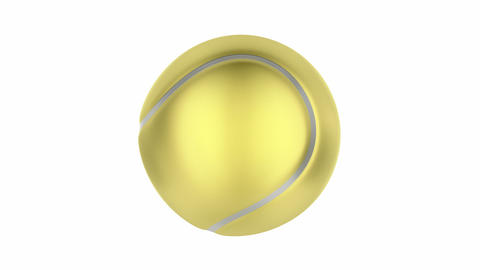 Golden tennis ball Animation