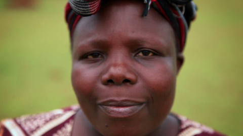 KENYA-C. 2012 Headshot of an adult African woman in Kenya, Africa c.2012 Live Action